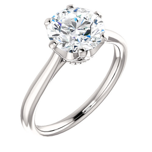 The Shayla Ring Series - Eternal Moissanite 2CT Round Brilliant Cut Engagement Ring