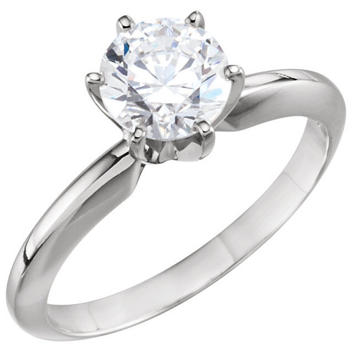 THE BEST PRICE ON THE NET -->  Eternal Moissanite Round Brilliant Cut 14K Tiffany Style 6 Prong Solitaire Round Engagement Ring