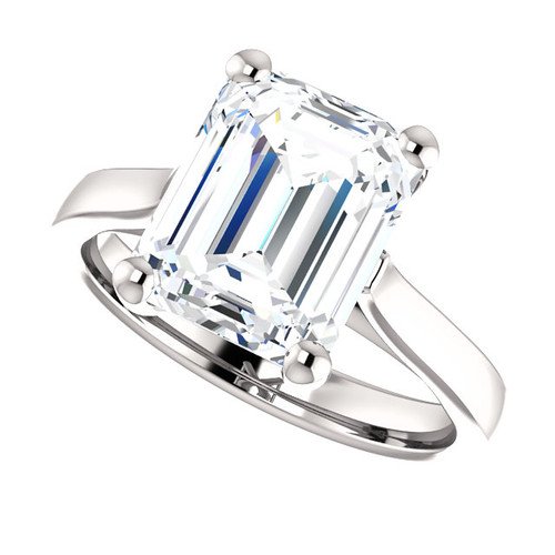 The Julia Ring Series - Eternal Moissanite 2.45CT Emerald Cut Engagement Cathedral Style Solitaire Ring - VIDEO BELOW