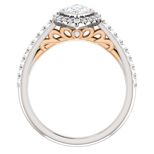 The Jasmin Ring Series - Eternal Moissanite .94CT Pear Cut Engagement Ring With Diamond Accents