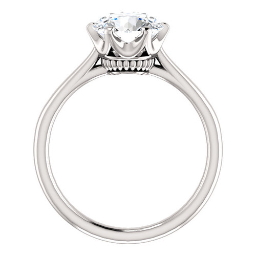 "The Shayla Ring Series - Eternal Moissanite 2CT Round ""Diamond Cut"" Solitaire Engagement Ring - VIDEO BELOW!!"