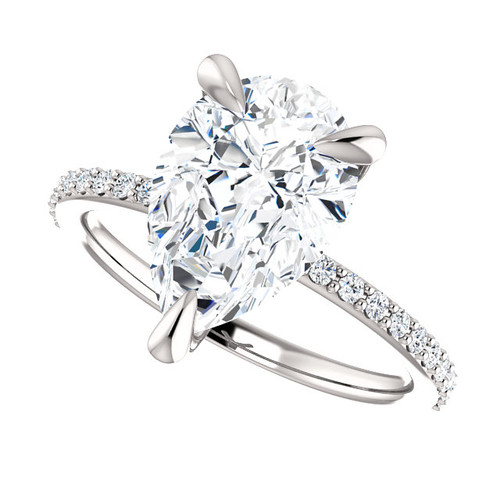 The Charlene Ring Series - Eternal Moissanite 3.57CT Pear Cut Engagement Ring