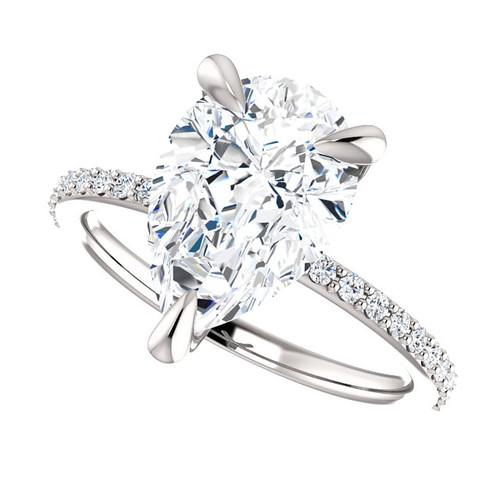 The Charlene Ring Series - Eternal Moissanite 3.57CT Pear Cut Engagement Ring