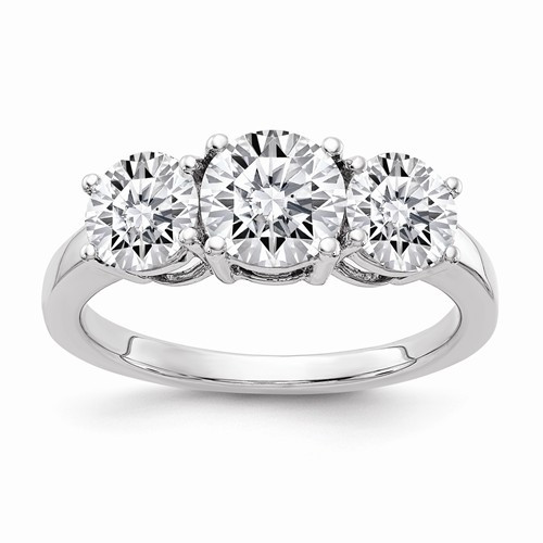 The Classic Three Stone Ring Series - Eternal Moissanite 2.20CTW / 1CT Center Anniversary Ring