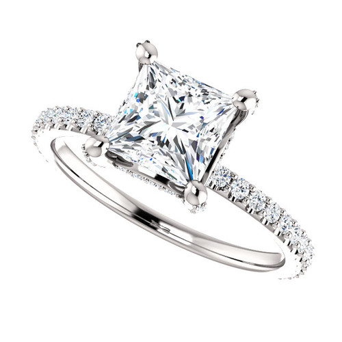 The Tempest Ring Series - Eternal Moissanite 1.25T Center Princess Cut Engagement Ring - VIDEO IN DESCRIPTION