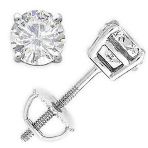 4CTW Eternal Moissanite Stud Solitaire Earrings