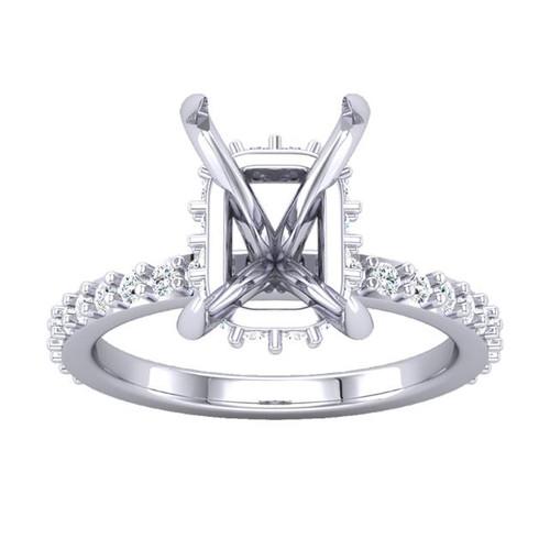 The Alice Ring - Eternal Moissanite Radiant Cut Engagement Ring