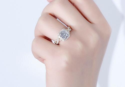 The Paisley Ring - Eternal Moissanite Cushion Cut Engagement Ring