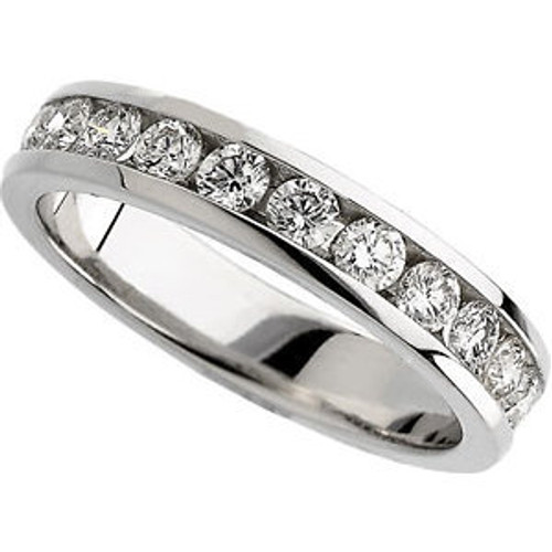 Ladies 14K White Gold 3/4cttw Channel Set Band