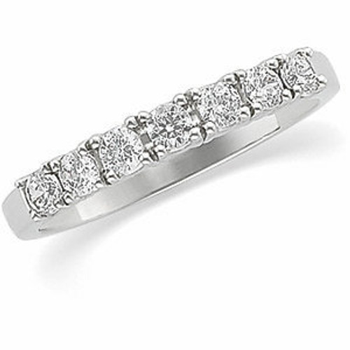 Ladies 3/4cttw. Round Brilliant Prong Set Band