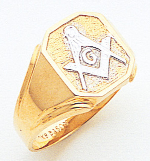 Men's Master Mason Ring (Open Back) One of a Kind