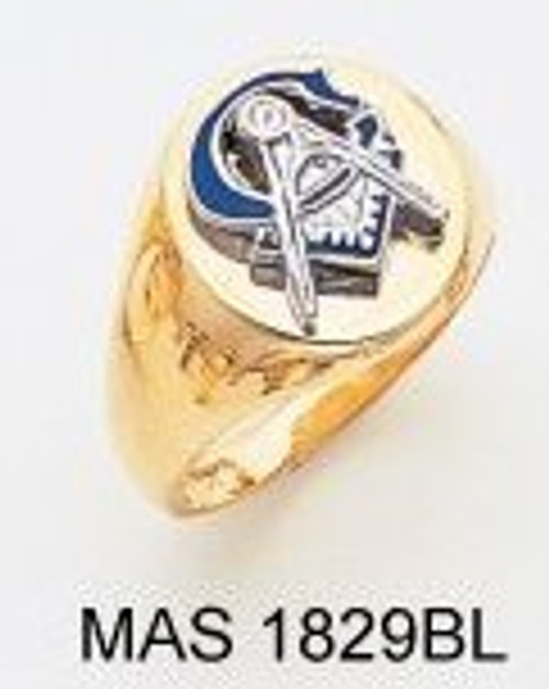 Men's Master Mason Ring (Solid Back) GREAT PRICE