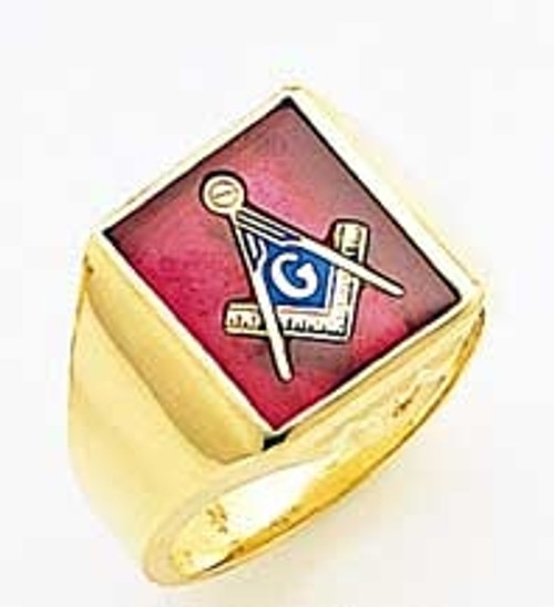 Men's Master Mason Ring (Solid Back) Very Affordable