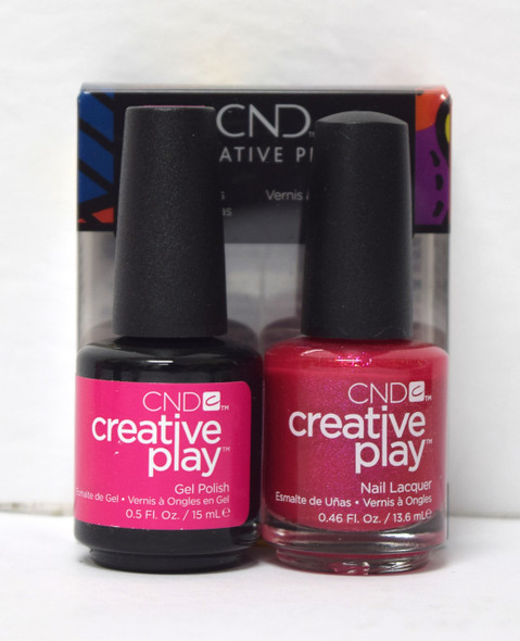 CND Creative Play Gel Set - #496 - Cherry-Glo-Round