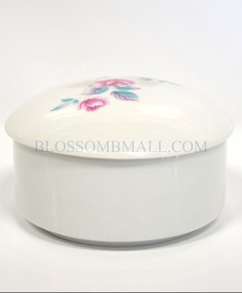 Glass Liquid Jar - Flower