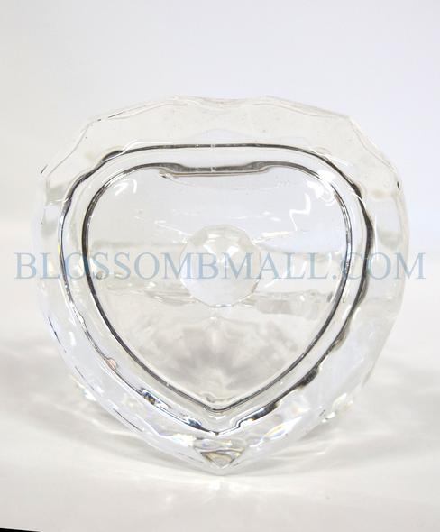 Glass Liquid Jar - Heart