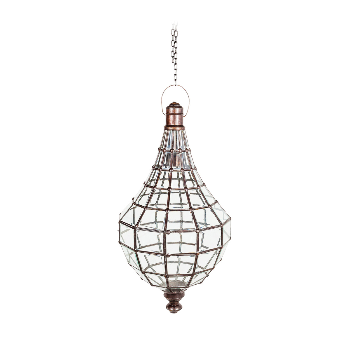 Image of: Large Metal Glass Pendant Lights Grand Moroccan Style