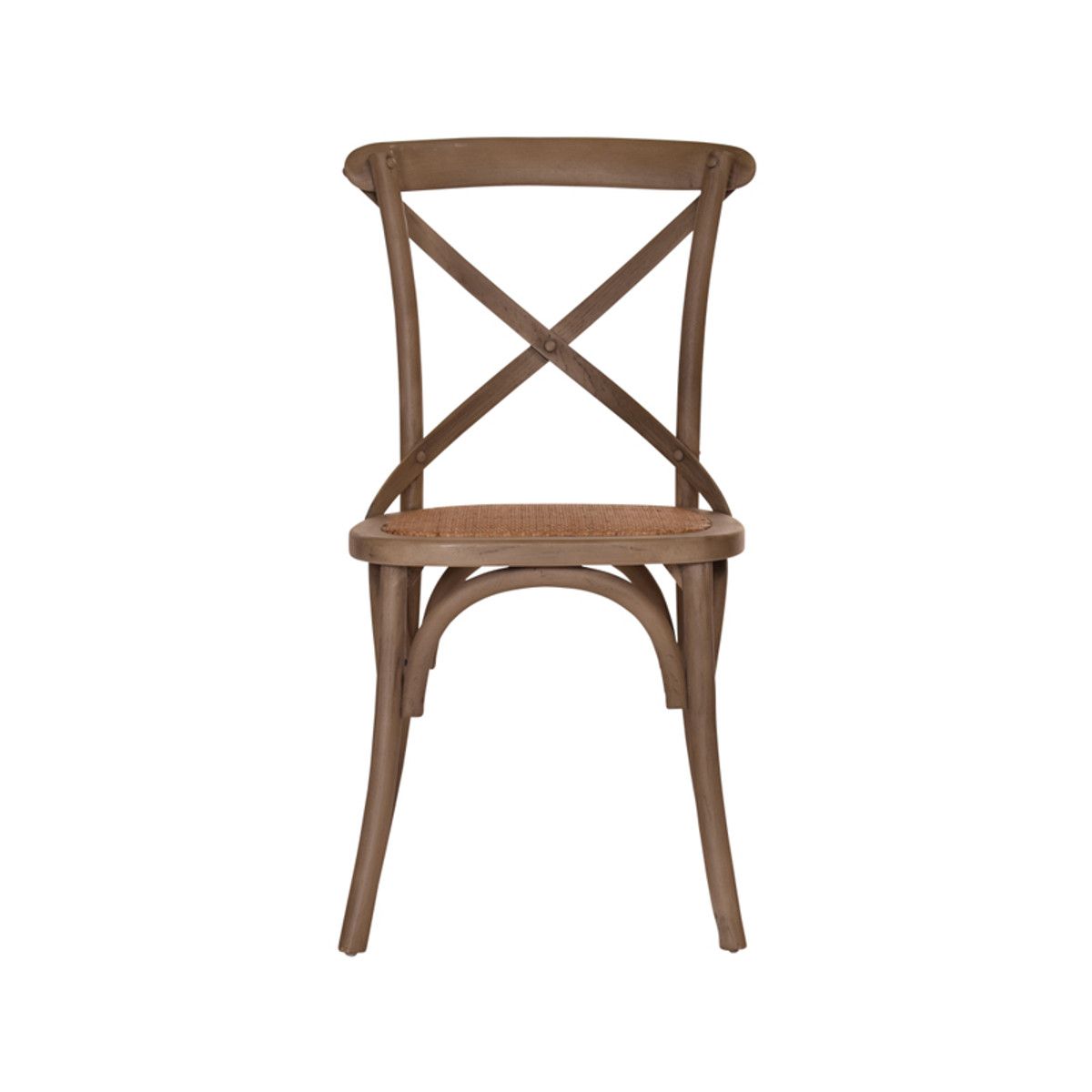 Crossback French Provincial Dining Chair In Washed Grey
