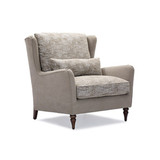 The Habitat Wing Armchair in the Tetred Edition is for those who love deep seated comfort, feather filled seating, robust aged leathers and beautifully woven upholstery fabrics with lush thick textures. 3/4