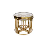 Perugia Side Table Set Gold/Clear