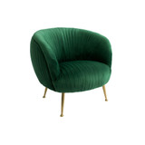 Luxurious, elegant and glamorous, the Perugia armchair in a selection of gorgeous colours is a feature piece that's impossible to overlook. Green. 3/4