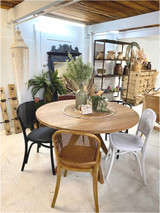 Rattan Dining Chair - White