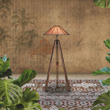 Our Tavarua Floor Lamp is handcrafted from sustainable wood from the Pacific Island's.