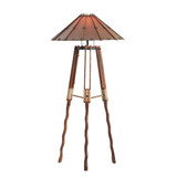 Our Tripod Floor Lamp is handcrafted from sustainable wood from the Pacific Island's.
