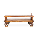 Porters Cart Recycled Timber Low TV Unit