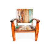 large deck chair boat timber