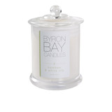 Byron Bay Candle Bamboo & White Lily - A beautiful soft floral scented candle combining the irresistible charms of white lily wrapped in the fresh oriental notes of bamboo leaves, elegantly subtle. Pure soy fragranced candle.