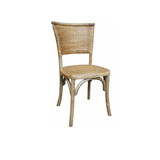 Our Provincial Timber and Wicker Dining Chair in Natural Finish brings a touch of the Hamptons and French Provincial styling to your dining setting. With its rubbed back timber, wicker back and seat, and classic design, this dining chair brings character and warmth to your dining space.