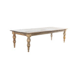 Cadence Dining Table - Cannon Leg French Provincial Table easily seating 10-12 people. A large dining table carefully crafted from reclaimed timber, the Cadence Dining Table is filled with character and will stand the test of time. Suitable for Hamptons and upmarket Country styles - three quarter view.
