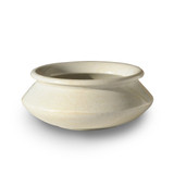 This elegant hand basin is made from solid white marble.