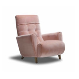 The Bonnie Armchair was designed with mid-century styling in mind. Featuring organic curves and ergonomic design for comfort and support. This armchair will compliment both contemporary and classic interiors. The Bonnie can be ordered in the fabric as shown, or customise with your own choice of fabric. 3/4 view