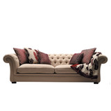 The Northbridge 4 seater sofa is a timeless design to suit contemporary interiors. Featuring classic diamond buttoning from the back to the arm rests, with feather blend seat cushions for extra comfort. The Northbridge can be ordered in the fabric as shown, or customise with your own choice of fabric. Front