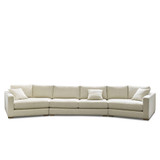 The Dempsey Modular 4 seater sofa is a contemporary design, available in many combinations and sizes. The sofa as shown, features an angled chaise for conversational seating. Front