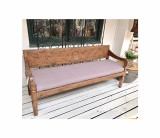 Carved Recycled Teak Bench