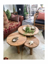 Round Teak Coffee & Side Tables