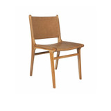 Our Teak dining chair with high quality light tan Italian leather seat is a piece of art! Well built and with superb comfort & style. You will love sitting around the dining table with family and friends entertaining. Handcrafted from quality materials by our artisan craftsman in Indonesia.