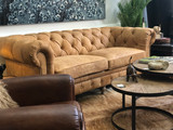 Lords Vintage Aged Leather Sofa