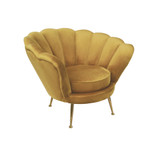 Add a touch of glamour to your home with our sophisticated Seashell Chair in multiple colours. Made with the softest velvet, the deco inspired curves provide both comfort and style. Honeycomb. 3/4
