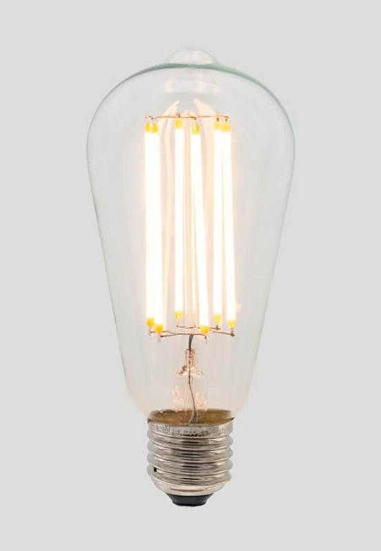 ST64 Long Led Bulb  - Clear Glass - 6W