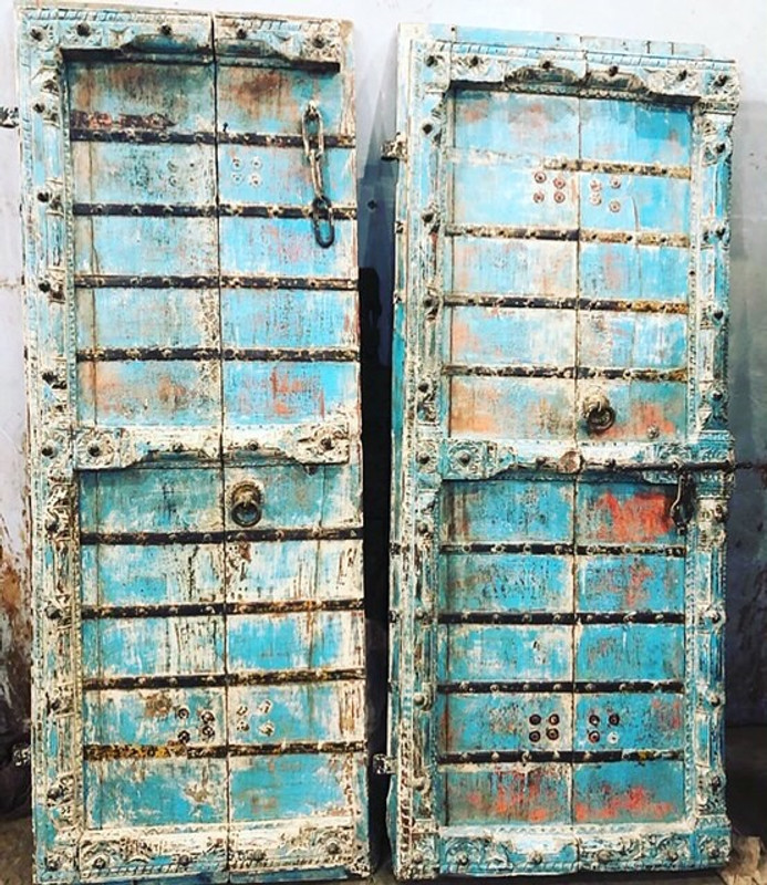 Blue Indian Doors