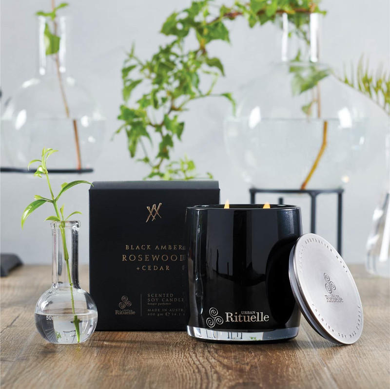 Rituelle Soy Candle - Black Amber+Rosewood+Cedar