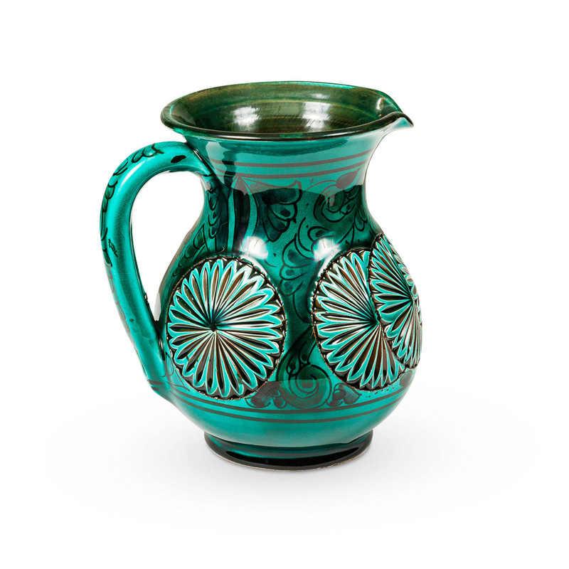Ceramic Moroccan Water Jug Green