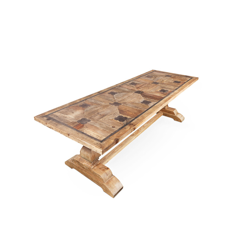 La French Recycled Elm Dining Table - seat 10 of your closest friends comfortably at this feature hand made dining table. The perfect table for rustic, French Provincial, and even Hamptons design themes.