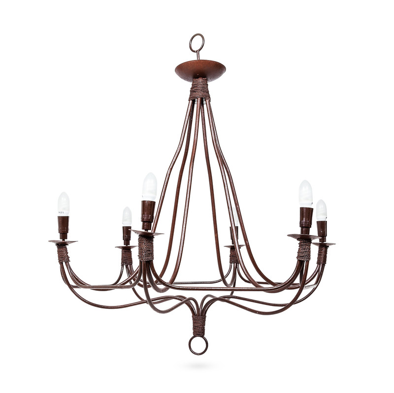 Wrought Iron Chandelier Light