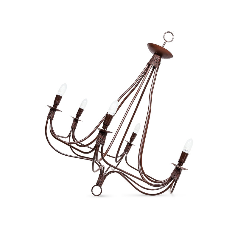 Moroccan Wrought Iron Chandelier