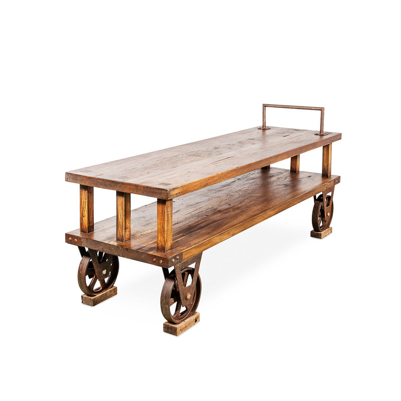 Porters Cart Reclaimed Timber with Wheels